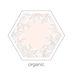 template organic 5 vector image vector image