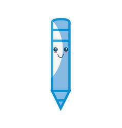 wooden pencil cartoon vector image