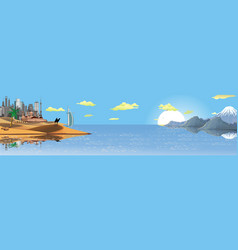 Panorama the landscape of the arab world vector
