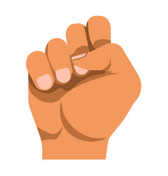 Human fist as protest nonverbal mean of vector
