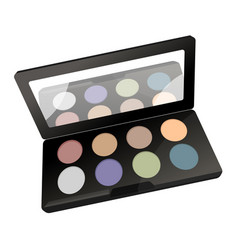 Palette with powder vector