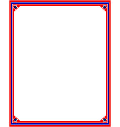 Frame in red and blue colors of the us flag vector