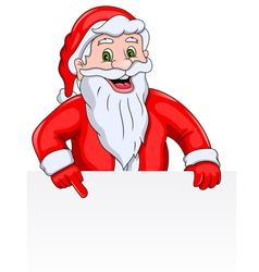 Santa claus with a blank sign vector