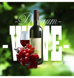 Premium wine design vector