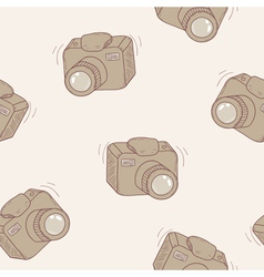 Sketched digital camera seamless pattern vector