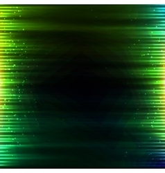 Green glowing lights abstract background vector