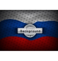 Flag of Russia with stars vector image
