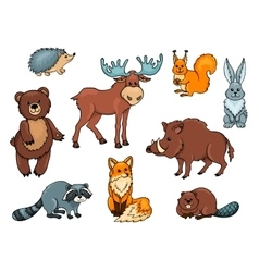 Forest animals set vector