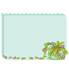 Leafy template vector