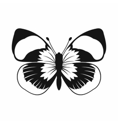 Butterfly icon simple style vector image
