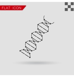 Image dna drawing flat style with red vector
