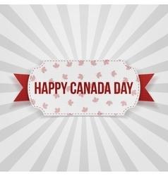 Happy Canada Day realistic Badge vector image