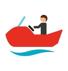 Jet ski isolated icon design vector