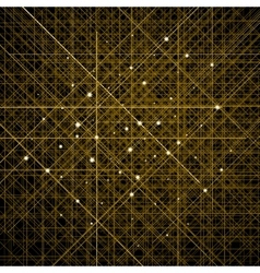 Background with thin golden crossed lines vector image vector image