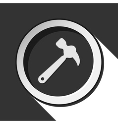 Black icon with claw hammer and stylized shadow vector
