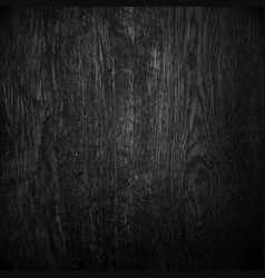 black wood vector image