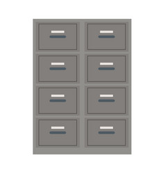 Cabinet file document office equipment vector