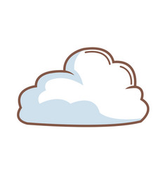 Cartoon cloud natural climate weather icon vector