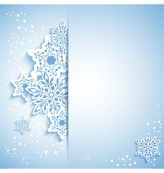 Christmas Snowflake Greeting Card vector image