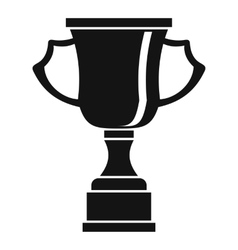 Cup for win icon simple style vector image