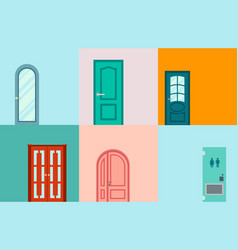 Doors isolated entrance vector