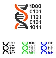 genetical code flat icon vector image