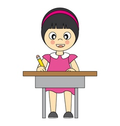 girl in school vector image vector image