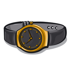 gold wrist watches vector image vector image