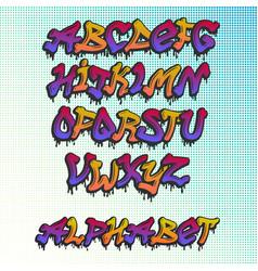 graffity alphabet hand drawn grunge font vector image vector image