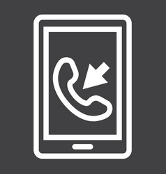 Incoming call line icon contact us and website vector