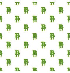 Letter b made of green slime vector