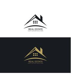 logo design for real estate vector image vector image