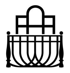 Luxury balcony icon simple style vector