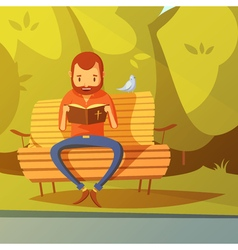 Man reading the bible vector
