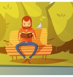Man reading the bible vector