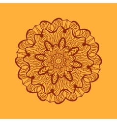 Mandala-like coloring work texture Hand-drawn new vector image