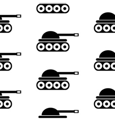 Panzer symbol seamless pattern vector image vector image