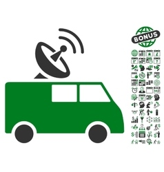 Radio control car icon with bonus vector