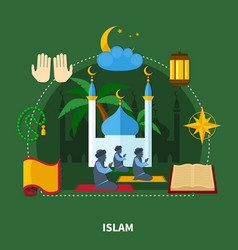 Religions colored composition vector