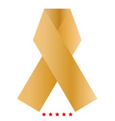 Ribbon icon color fill style vector