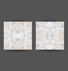 Set abstract pattern seamless line art vector