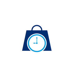Shopping time logo vector