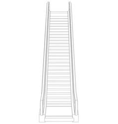 Sketch of escalator front view vector