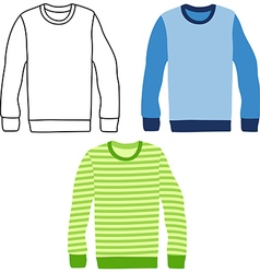 sweaters vector image vector image