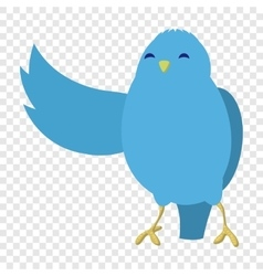 Talking blue bird vector