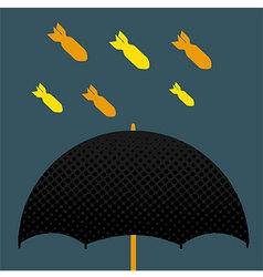 Umbrella bomb vector