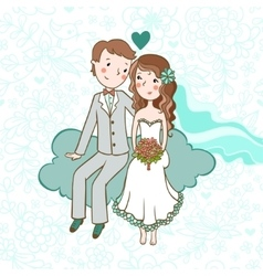 Wedding invitation vector image