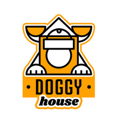 Logo on the theme of the house for dogs kennel vector
