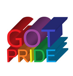 Got pride banner vector