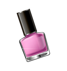 Pink colored nail polish vector